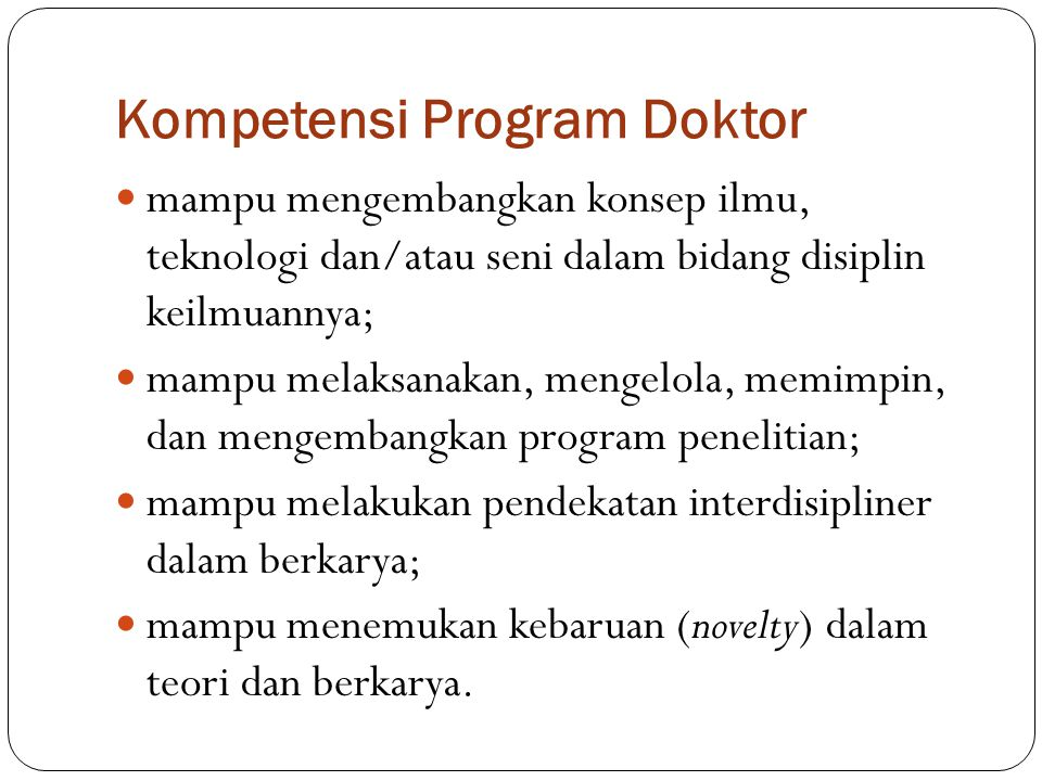 Kompetensi Program Doktor