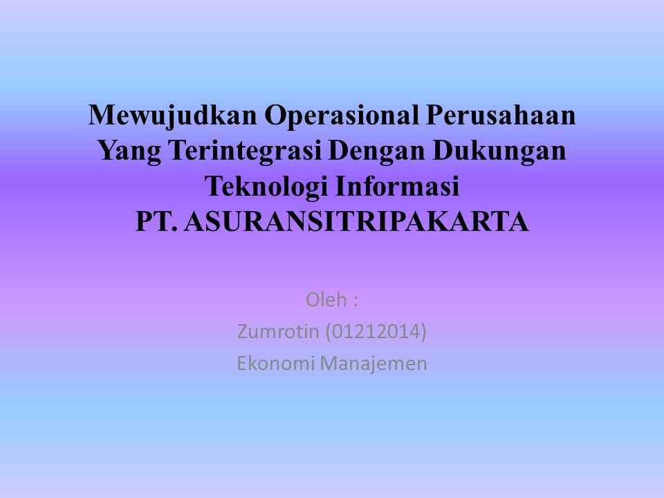 Oleh : Zumrotin (01212014) Ekonomi Manajemen