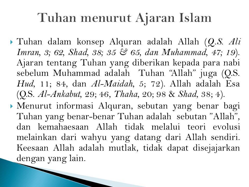 Tuhan menurut Ajaran Islam