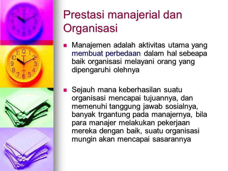 Prestasi manajerial dan Organisasi