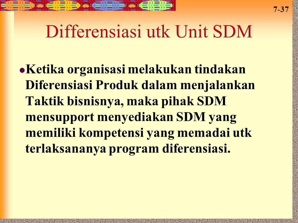 Differensiasi utk Unit SDM