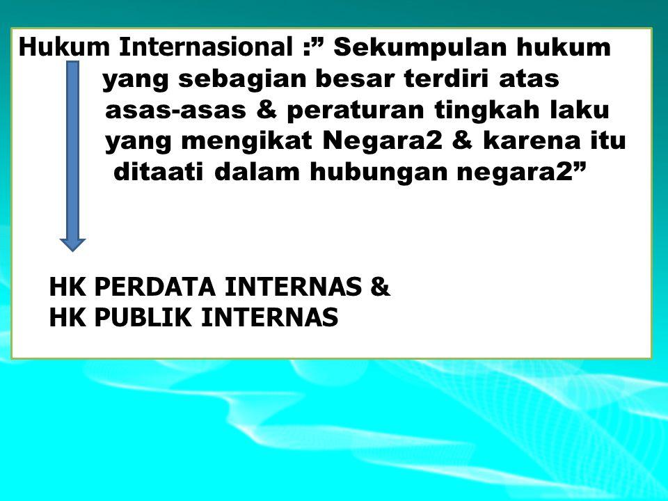 Hukum Internasional : Sekumpulan hukum