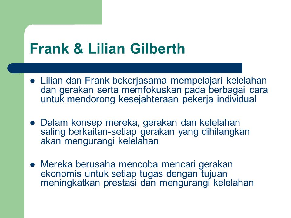 Frank & Lilian Gilberth