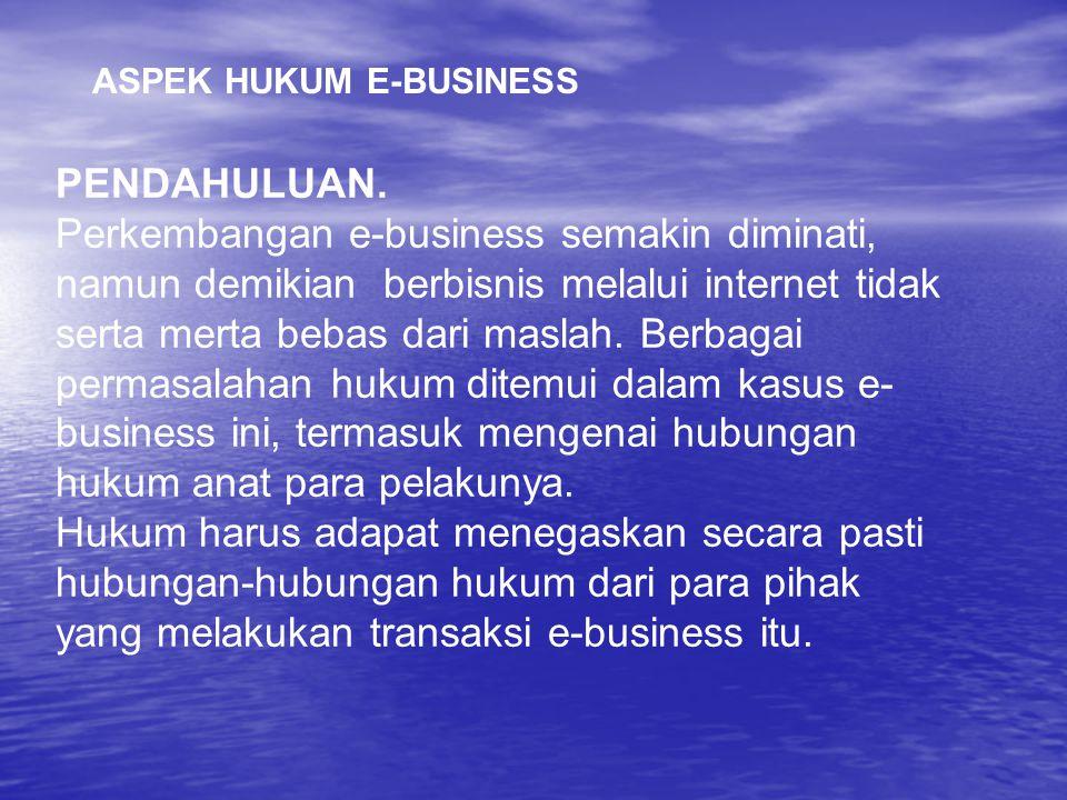ASPEK HUKUM E-BUSINESS