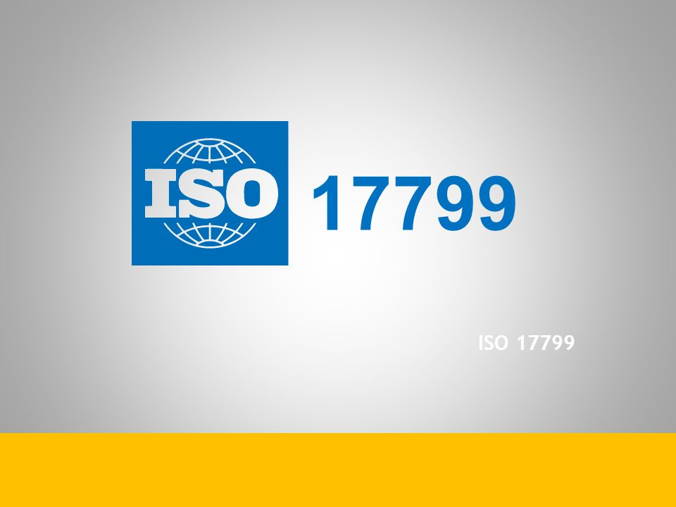 17799 ISO 17799