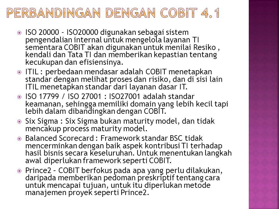 Perbandingan dengan COBIT 4.1