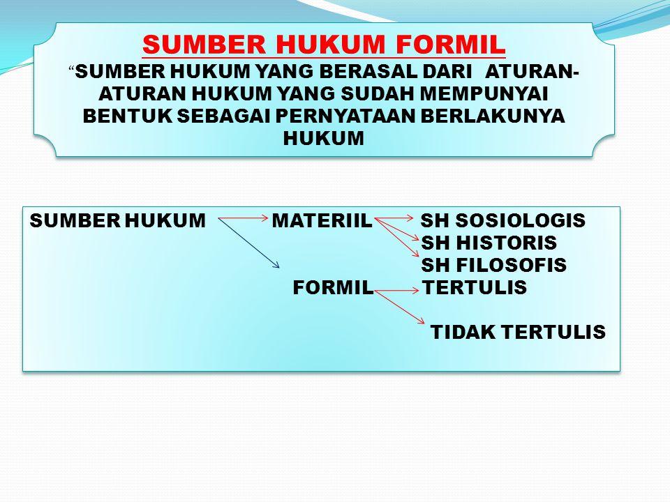 SUMBER HUKUM FORMIL SUMBER HUKUM MATERIIL SH SOSIOLOGIS