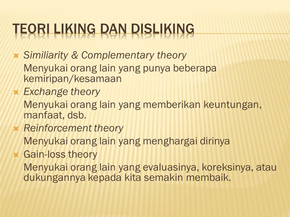 Teori liking dan disliking
