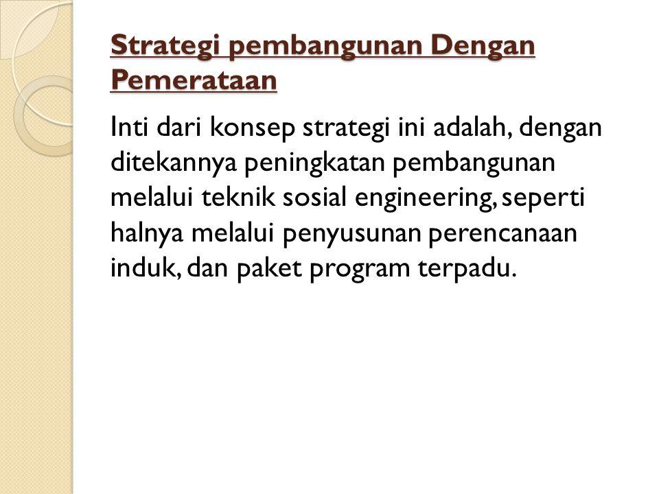 Strategi pembangunan Dengan Pemerataan