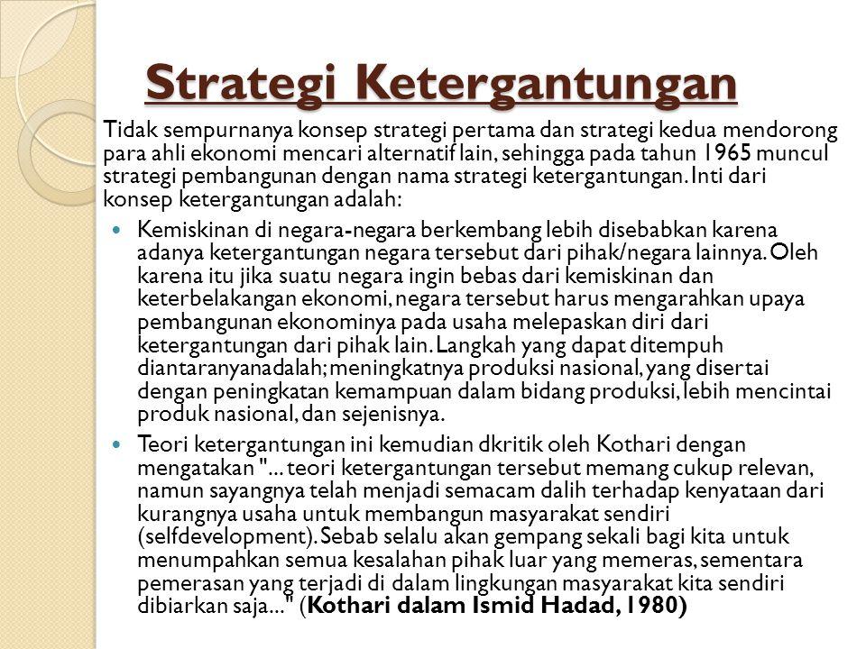 Strategi Ketergantungan