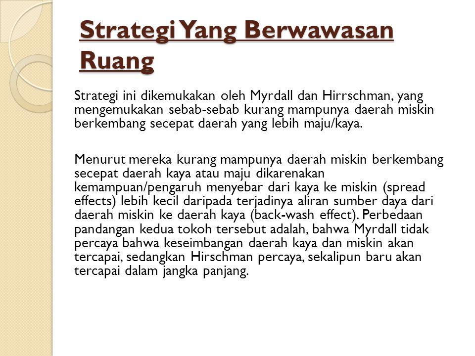 Strategi Yang Berwawasan Ruang
