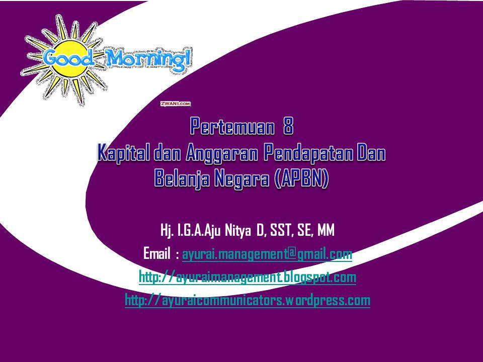Pertemuan 8 Kapital dan Anggaran Pendapatan Dan Belanja Negara (APBN)