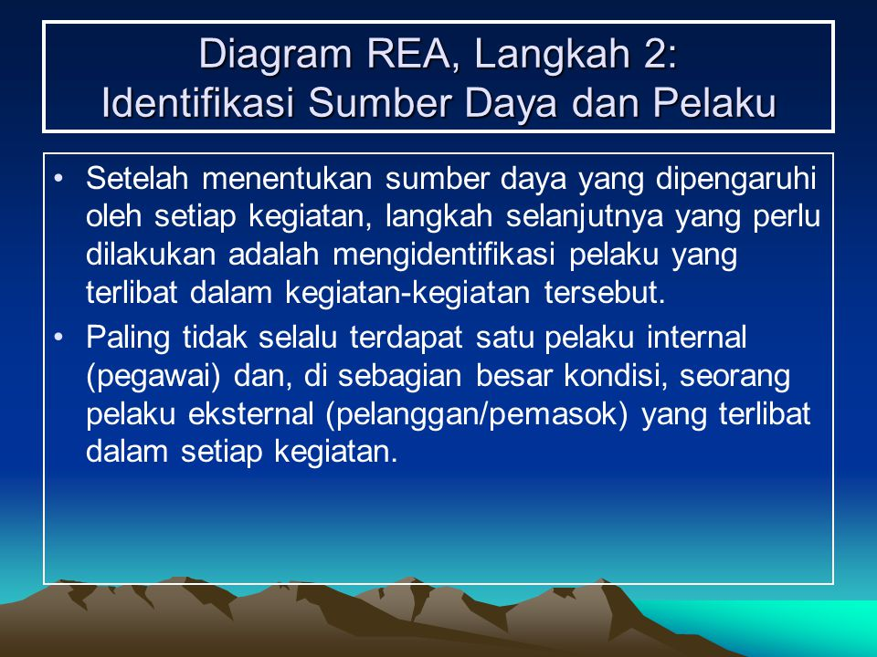 Diagram REA, Langkah 2: Identifikasi Sumber Daya dan Pelaku