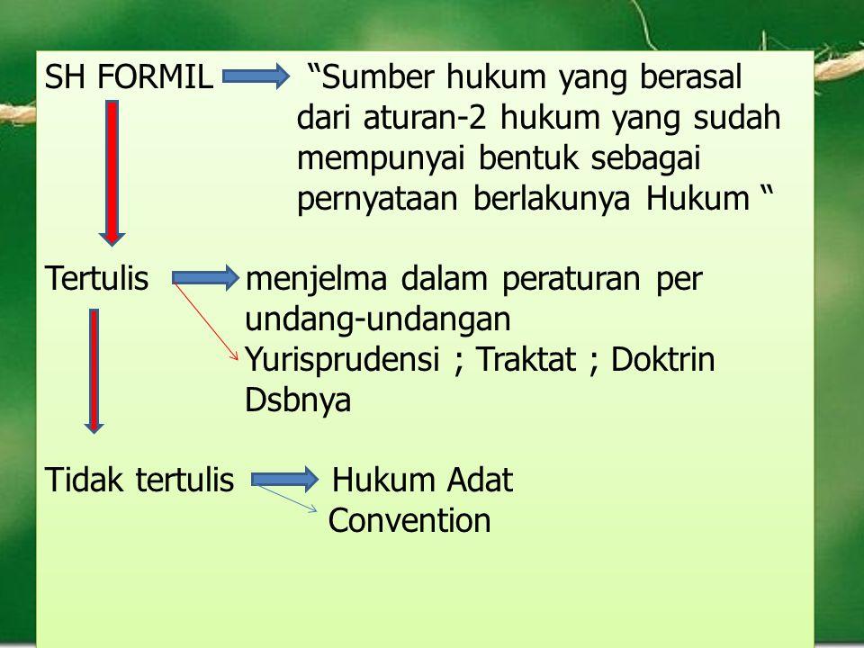 SH FORMIL Sumber hukum yang berasal