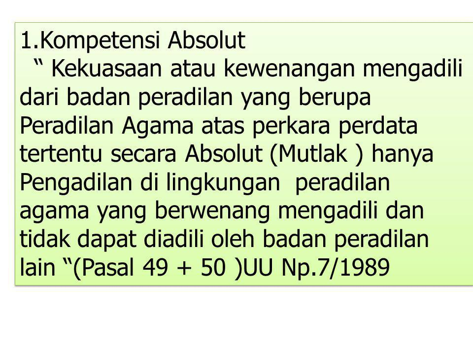 1.Kompetensi Absolut