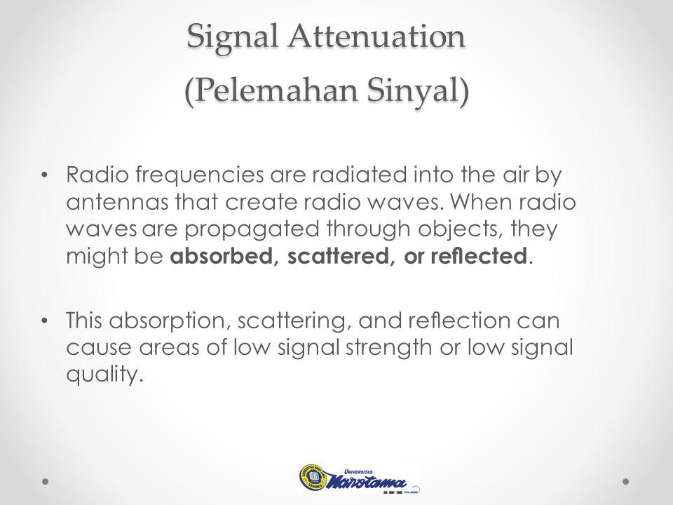 Signal Attenuation (Pelemahan Sinyal)
