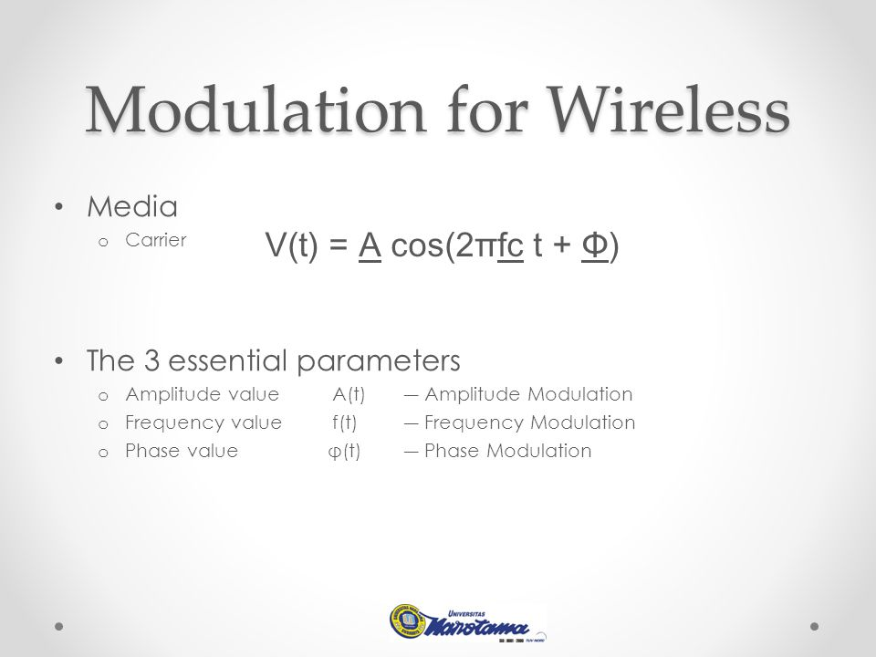 Modulation for Wireless