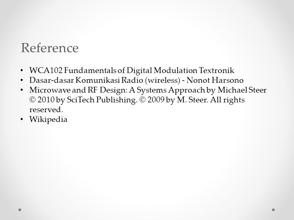 Reference WCA102 Fundamentals of Digital Modulation Textronik