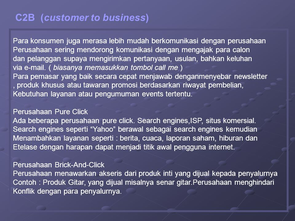C2B (customer to business)