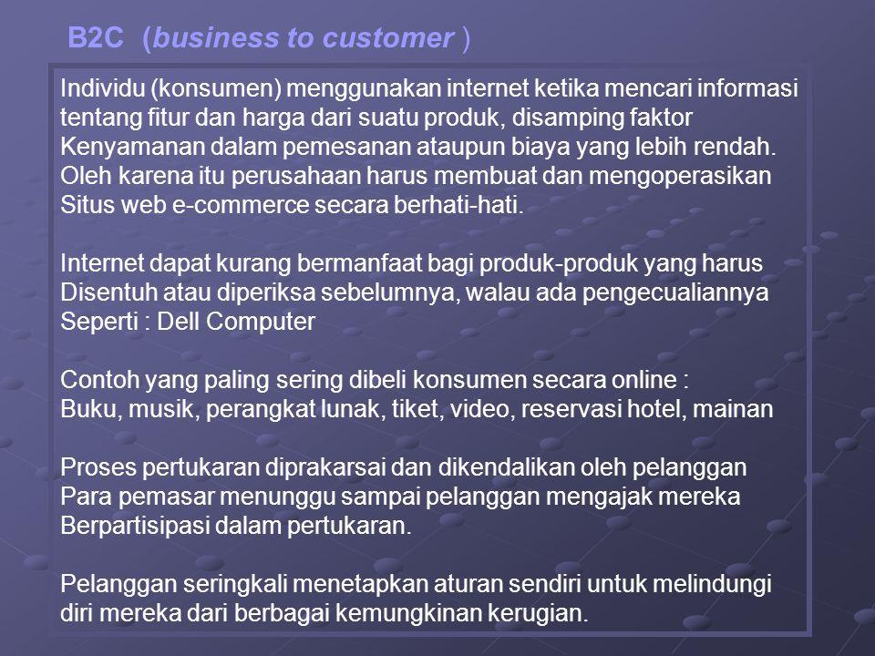 B2C (business to customer )