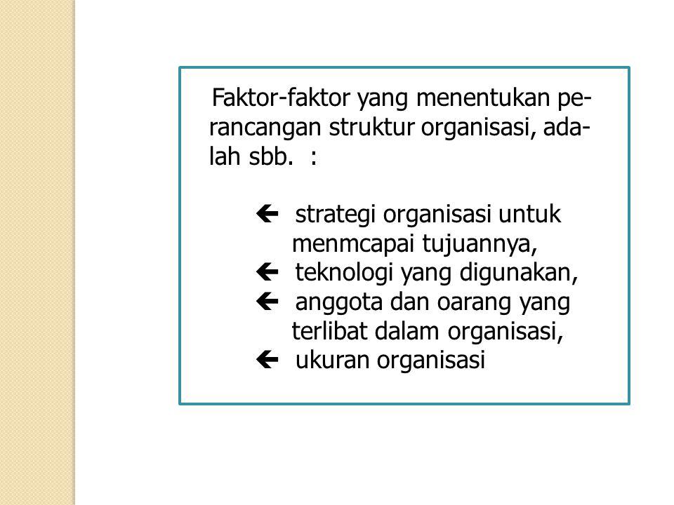 rancangan struktur organisasi, ada- lah sbb. :