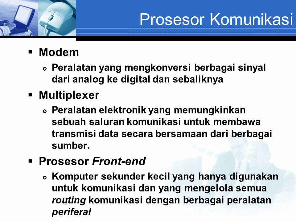 Prosesor Komunikasi Modem Multiplexer Prosesor Front-end