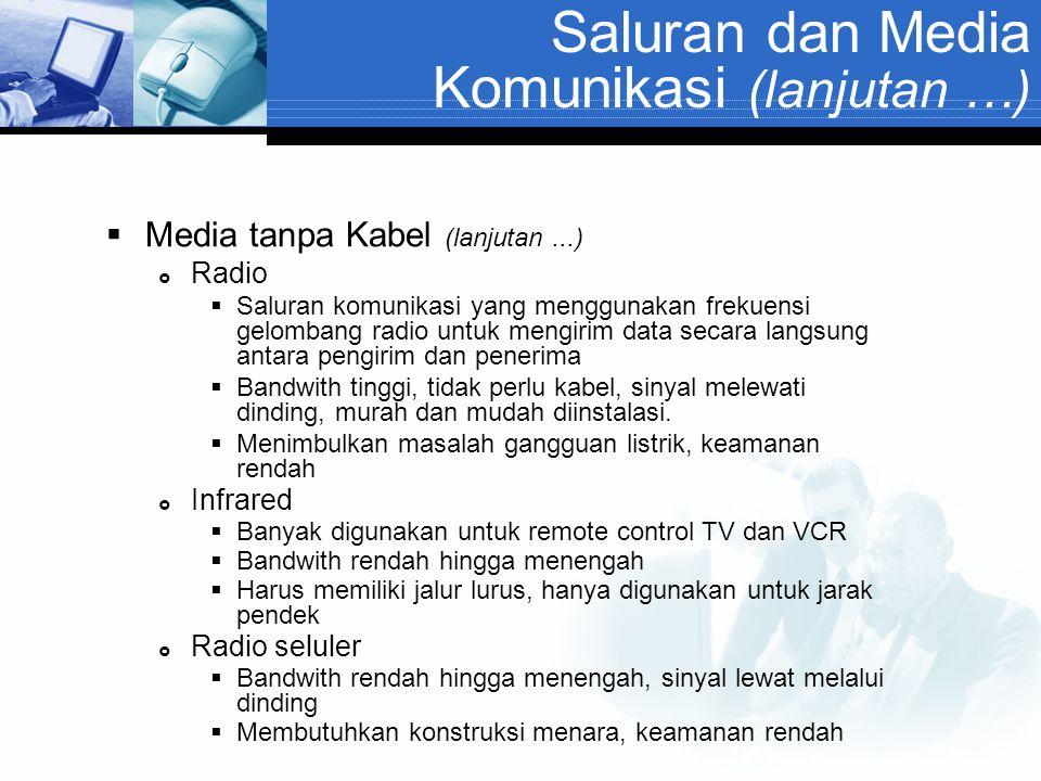 Saluran dan Media Komunikasi (lanjutan …)