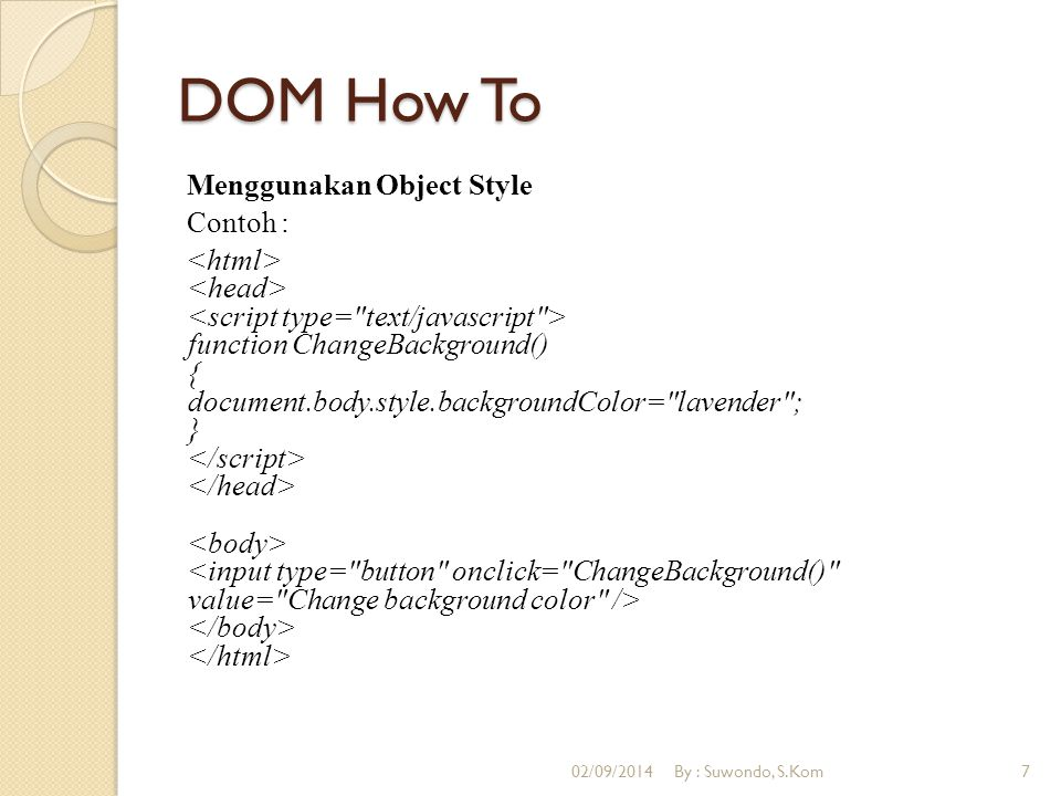 DOM How To