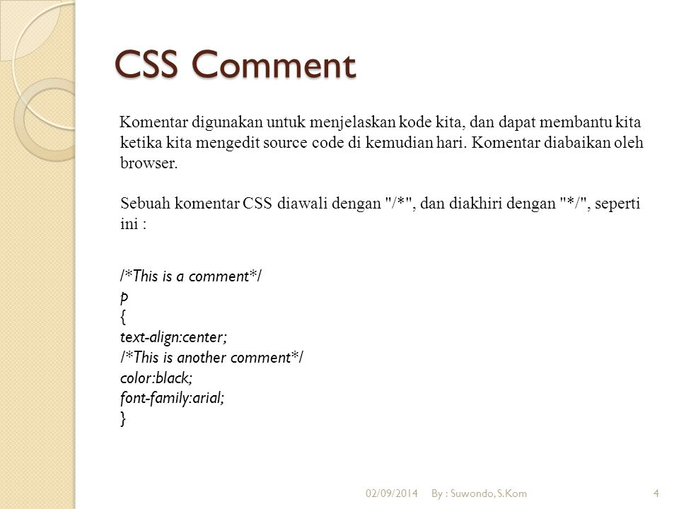 CSS Comment