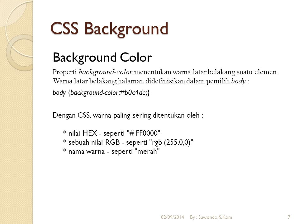 CSS Background Background Color