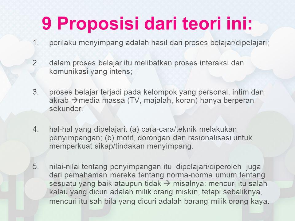 9 Proposisi dari teori ini: