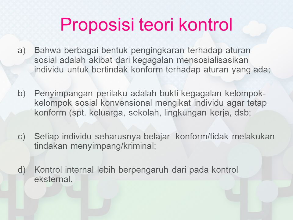 Proposisi teori kontrol