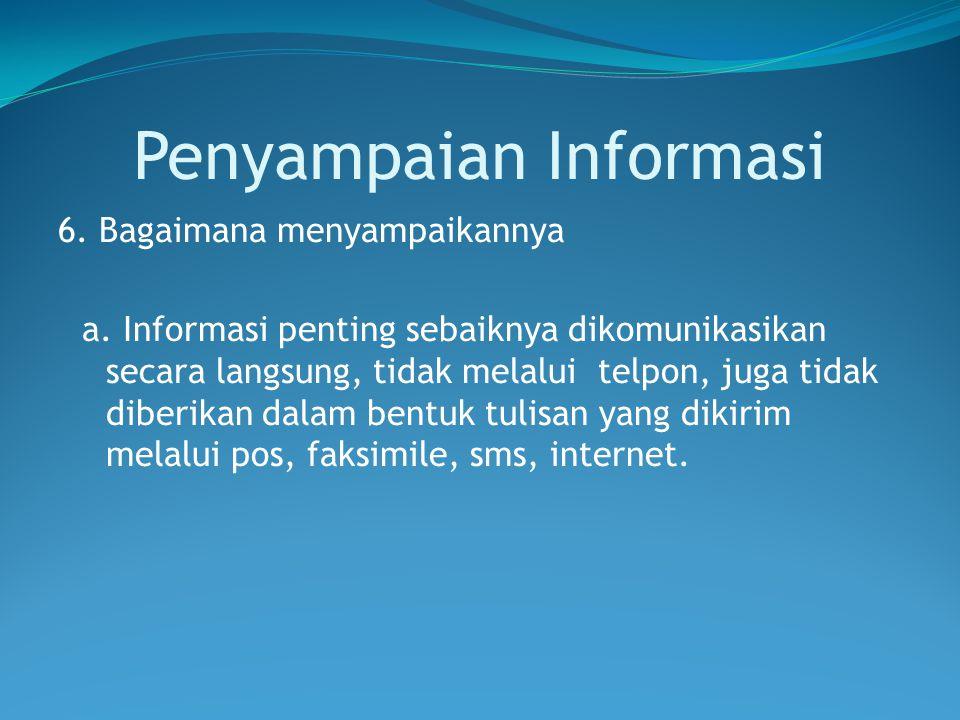 Penyampaian Informasi