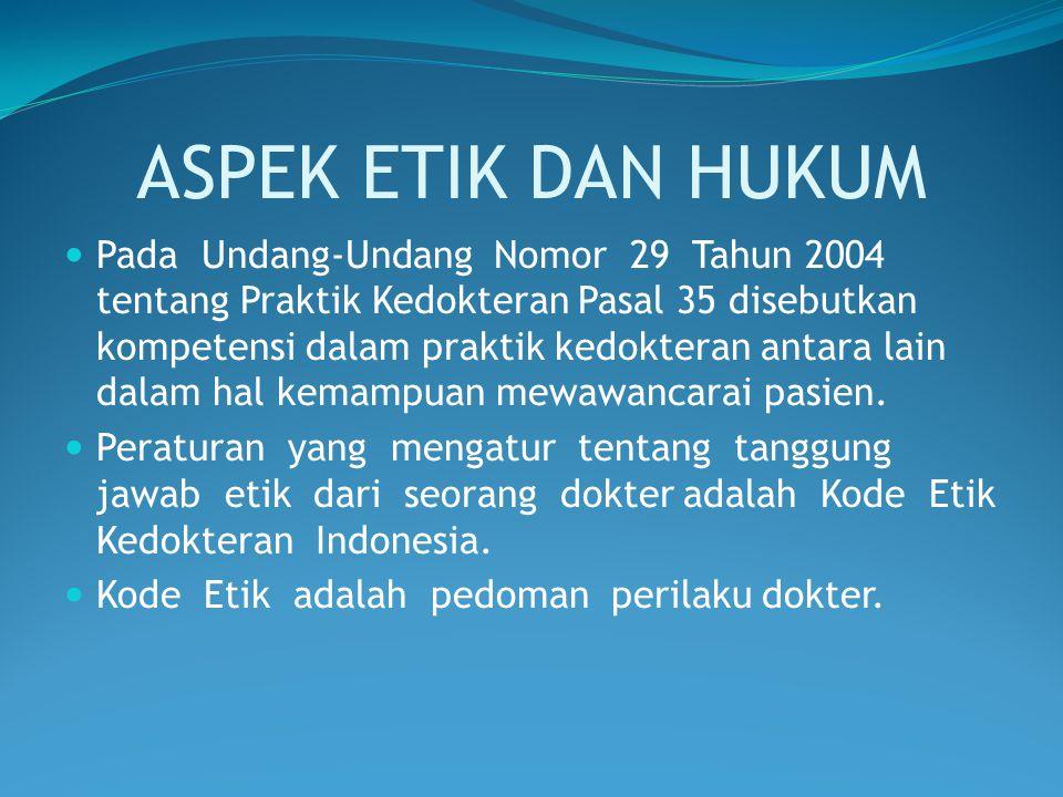 ASPEK ETIK DAN HUKUM