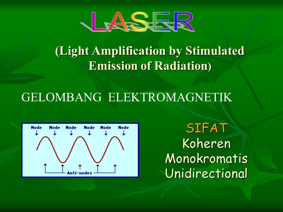 (Light Amplification by Stimulated Emission of Radiation)