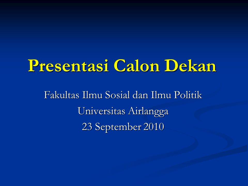 Presentasi Calon Dekan