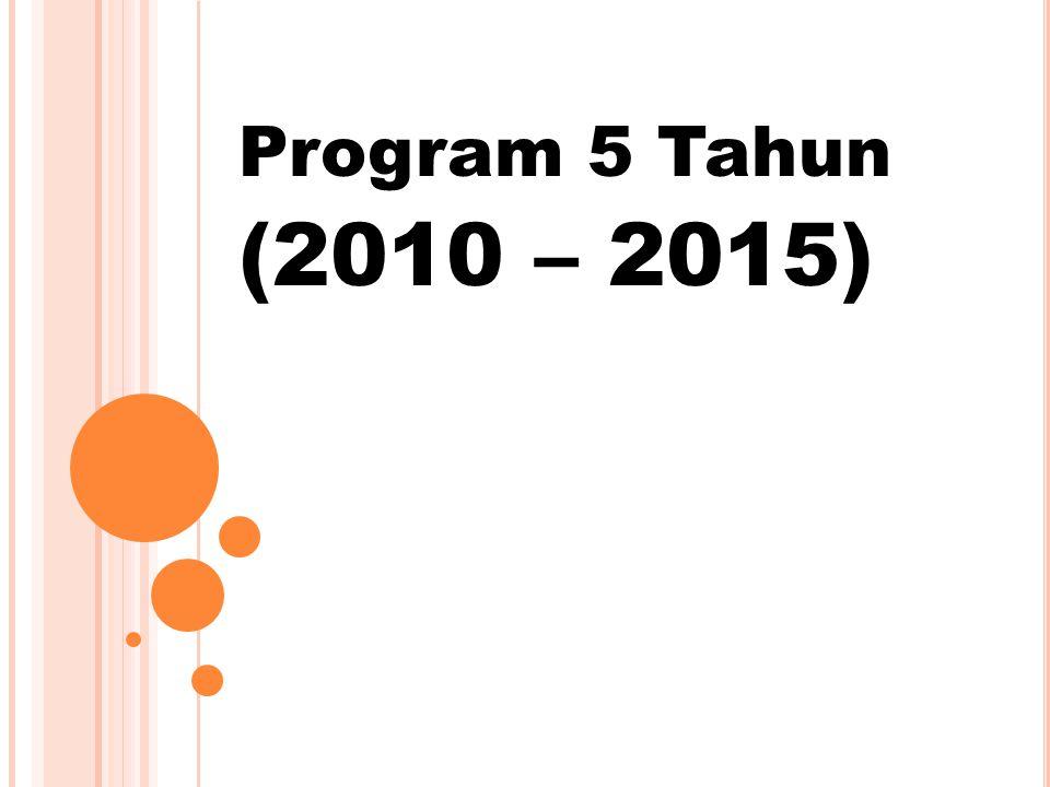 Program 5 Tahun (2010 – 2015)