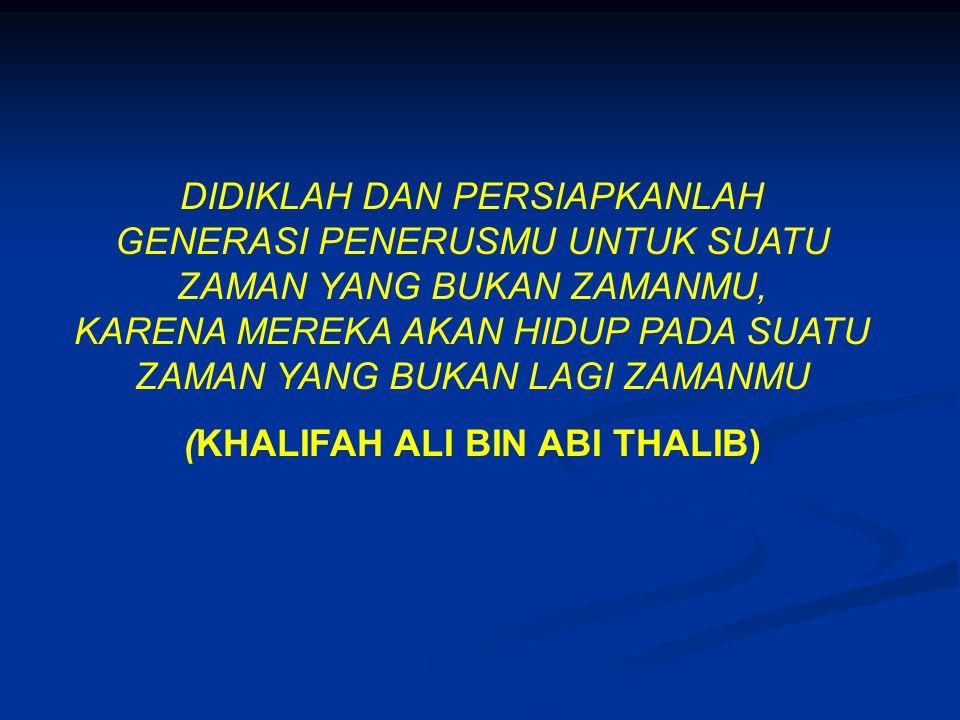 (KHALIFAH ALI BIN ABI THALIB)