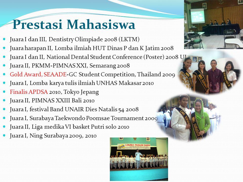 Prestasi Mahasiswa Juara I dan III, Dentistry Olimpiade 2008 (LKTM)