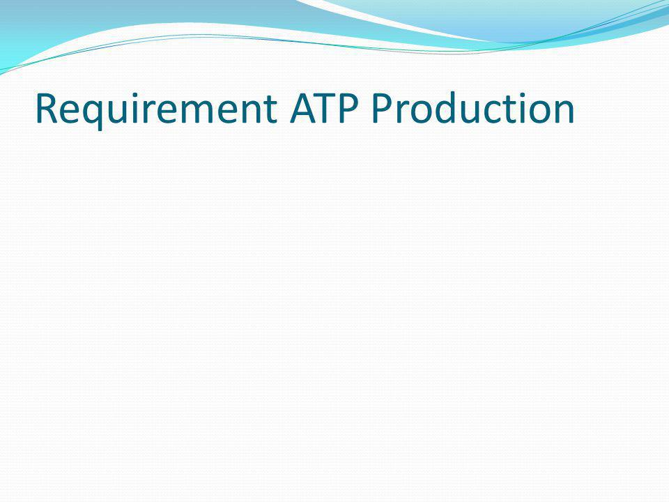 Requirement ATP Production