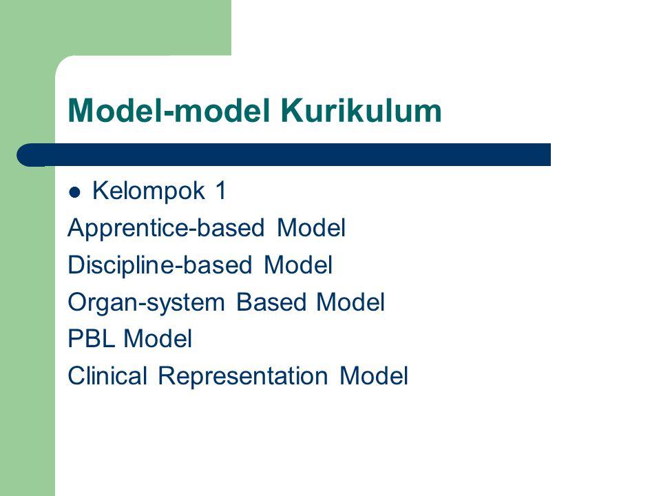 Model-model Kurikulum