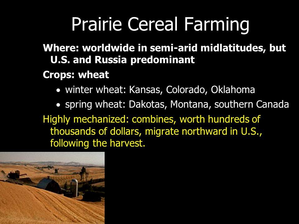 Prairie Cereal Farming