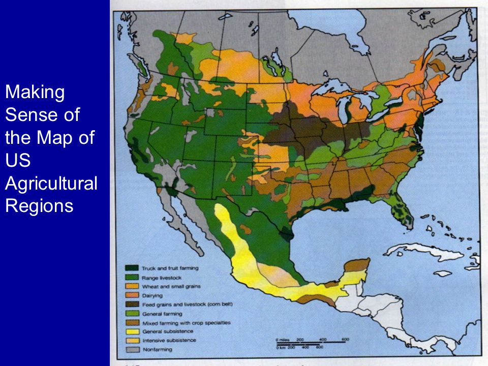 Making Sense of the Map of US Agricultural Regions