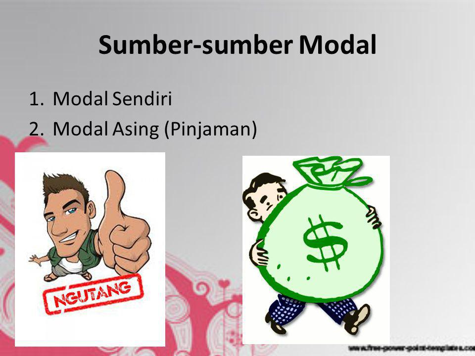 Sumber-sumber Modal Modal Sendiri Modal Asing (Pinjaman)