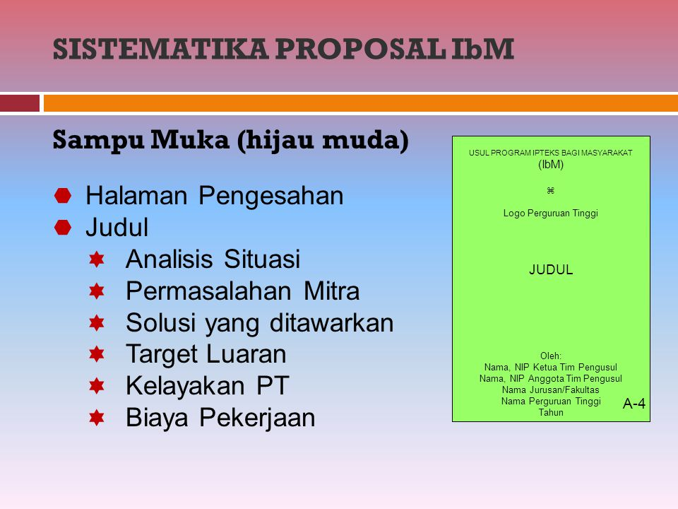 SISTEMATIKA PROPOSAL IbM