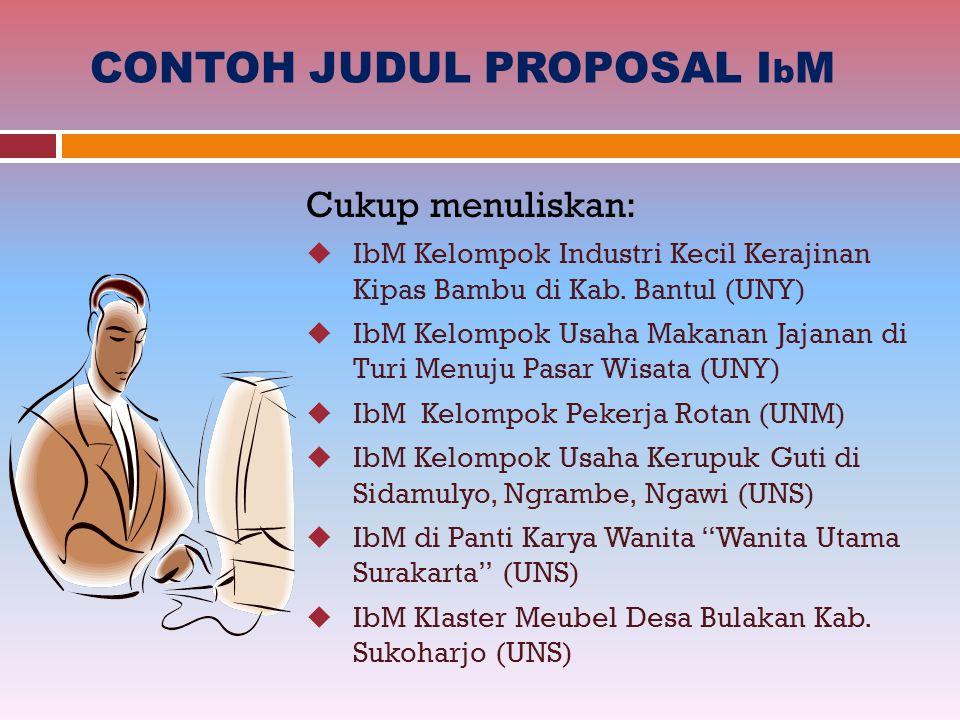 CONTOH JUDUL PROPOSAL IbM