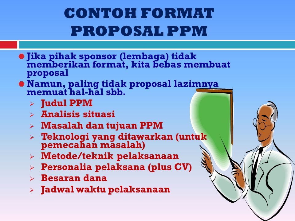 CONTOH FORMAT PROPOSAL PPM