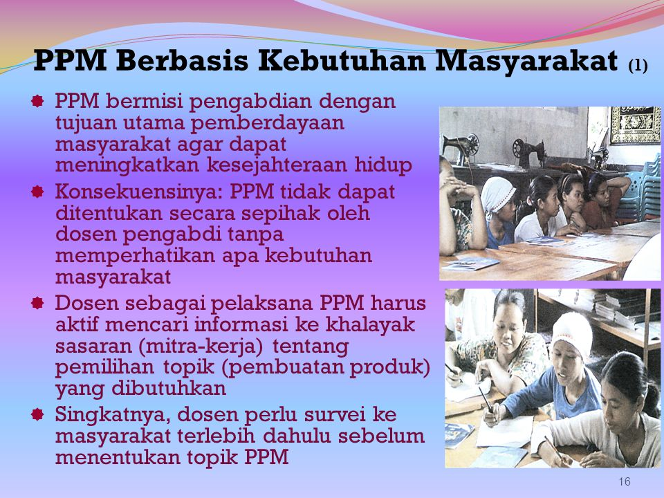 PPM Berbasis Kebutuhan Masyarakat (1)