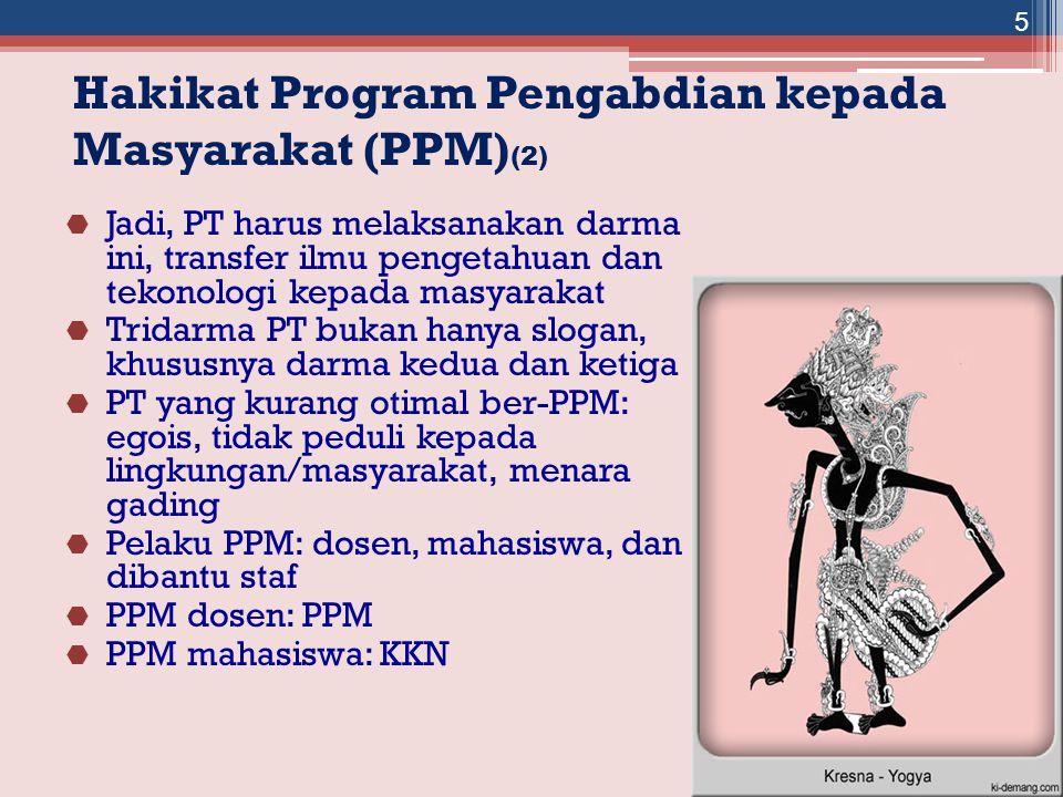 Hakikat Program Pengabdian kepada Masyarakat (PPM)(2)