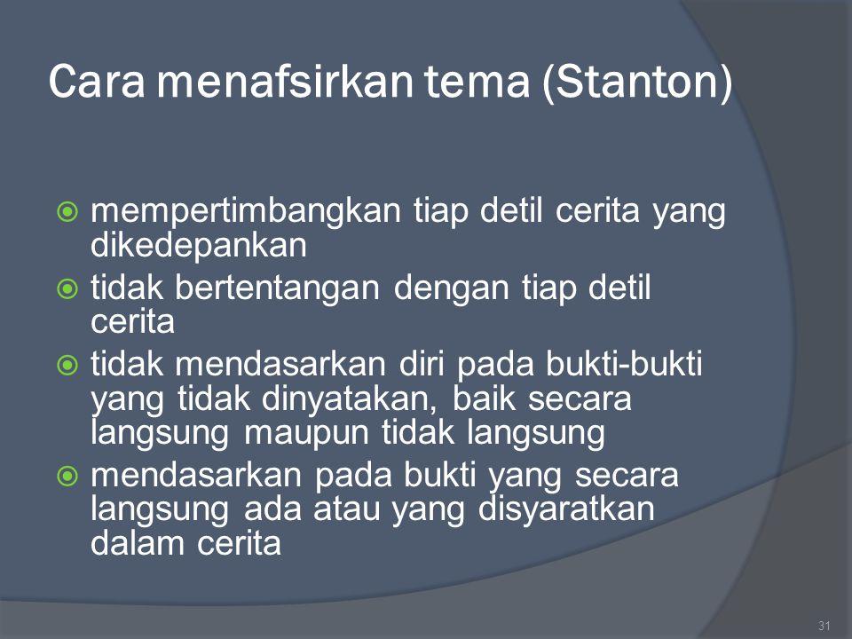 Cara menafsirkan tema (Stanton)